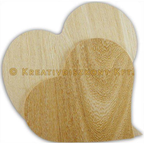 Falap szív forma nagy 29x27 cm