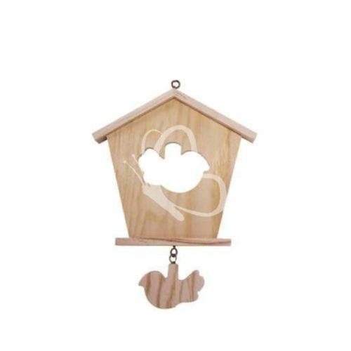Falidísz házikó alakú, madár függelékkel
