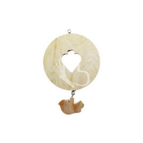 Falidísz kör alakú madárka függelékkel 14x14 cm