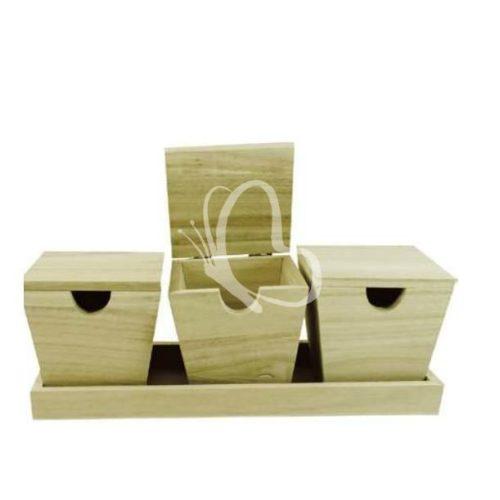 Doboztartó cserépformájú dobozokkal