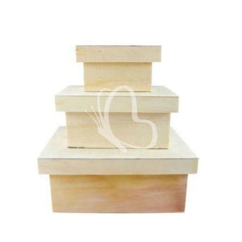 Téglalap alakú dobozok, 3 részes