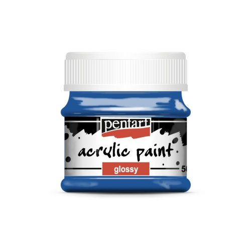 Pentart Fényes akrilfesték 50 ml - Kék