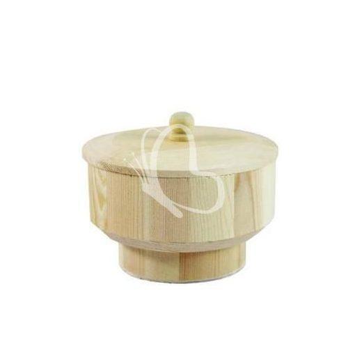 Kör alakú dobozka tetővel 11x9x7 cm