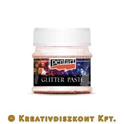 Glitterpaszta 50 ml finom - vörösréz
