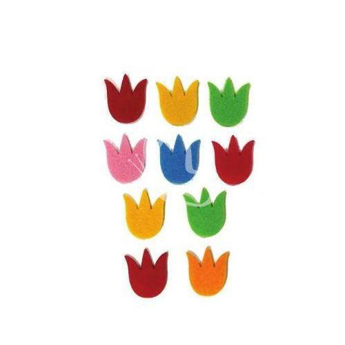 Filcfigurák, tulipán / 10 db