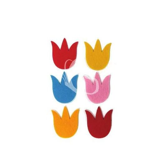 Filcfigurák, tulipán 6db/csomag