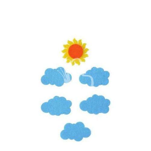 Filcfigurák, napocska felhőkkel / 6 db