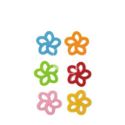 Filcfigurák, 5 szirmú virág / 6 db