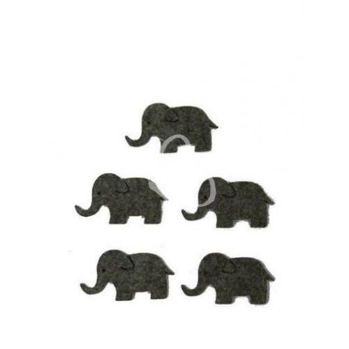 Filcfigurák, elefántok / 5 db