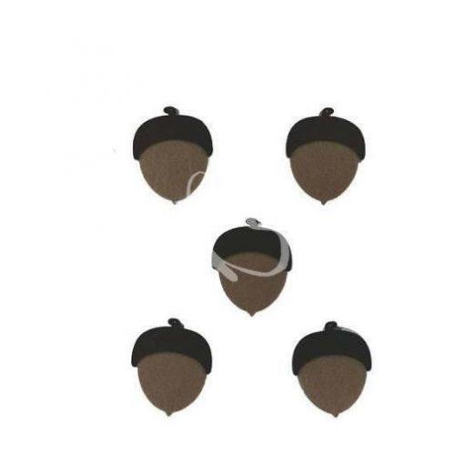 Filcfigurák, makk / 5 db