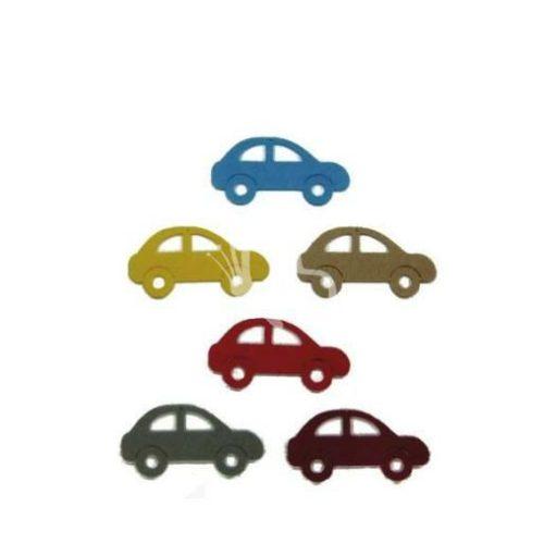 Filcfigurák, kocsik / 6 db