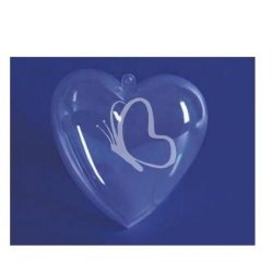 Átlátszó műanyag szív