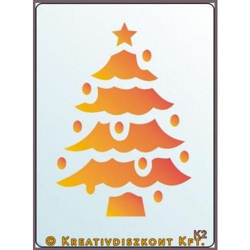 Festősablon, karácsonyfa  K2