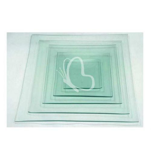Üvegtál négyszögletes 5 méretben - 15x15 cm
