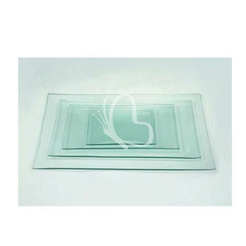 Üvegtál téglalap 13x27 cm