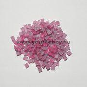 Akrilmozaik csillámos 0,5x0,5 cm - Rózsaszín