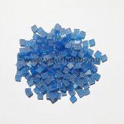 Akrilmozaik csillámos 0,5x0,5 cm - Kék
