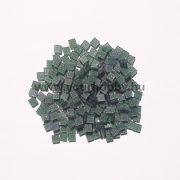 Akrilmozaik csillámos 0,5x0,5 cm - Fenyőzöld