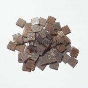 Akrilmozaik  csillámos 1x1cm hennabarna