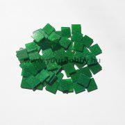 Akrilmozaik csillámos 1x1 cm - Zöld