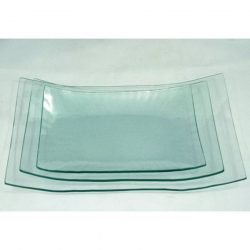 Üvegtál hajlított szögletes 24,2x14,8x3,5 cm