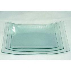 Üvegtál hajlított szögletes 28,2x17,8x5 cm