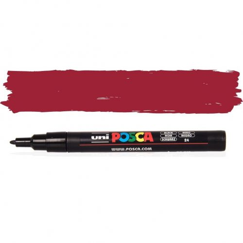 UNI POSCA PC-3M 1.3 mm Sötét piros
