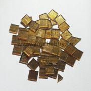 Üvegmozaik 1x1 cm - Arany-átlátszó