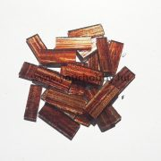 Üvegmozaik 0,8x2,5 cm - Arany-barna csíkos