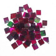 Üvegmozaik 1x1 cm - Zöld-lila átlátszó vegyes