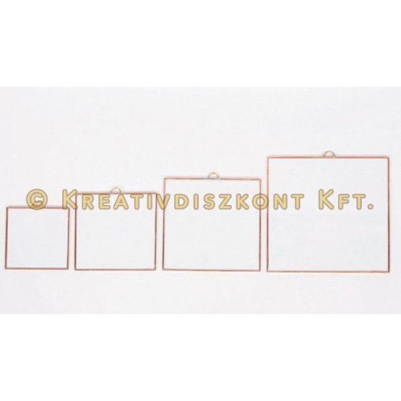 Fóliázott üveg négyszög 4 méretben -  8x8 cm