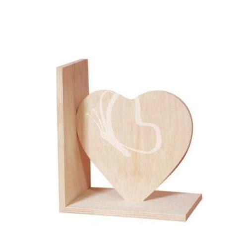 Könyvtámasz szív 18x15,5 cm