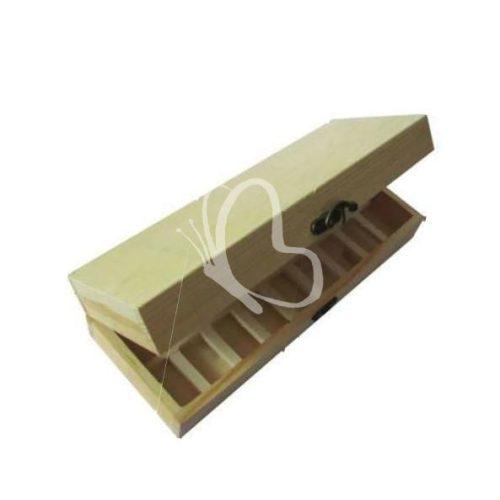 Teafilteres doboz 18 rekeszes 29x10,5x6,5 cm