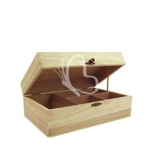 Teafilter tartó 2+2 rekeszes 23x15x9 cm