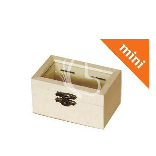 Mini doboz üveg betéttel 9x4,7x5,5 cm