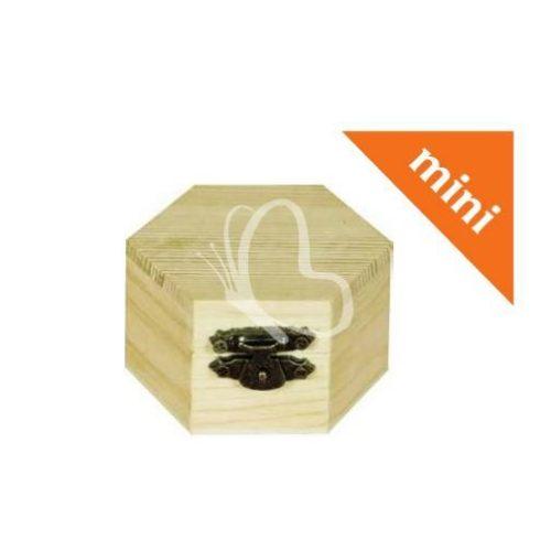 Minidoboz hatszög 6x4 cm