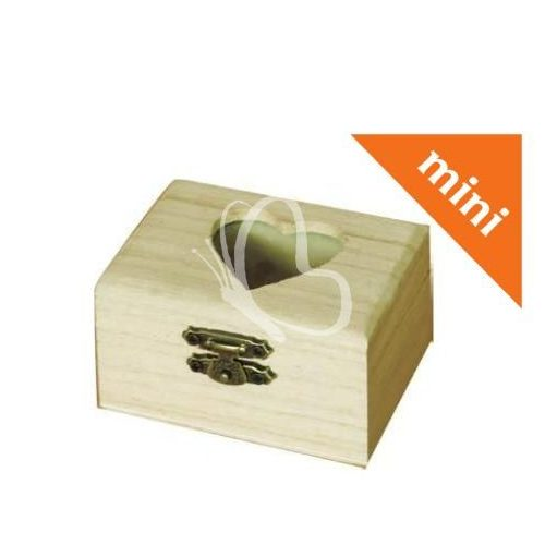 Minidoboz szívbetéttel 8x4,5x6 cm