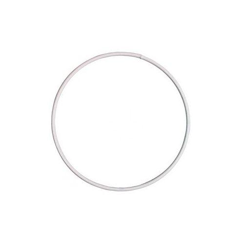 Drótkarika fehér bevonatos 10 cm