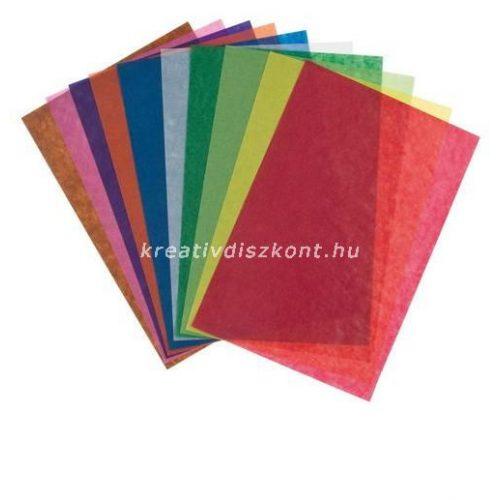 Transzparenspapír 10 szín