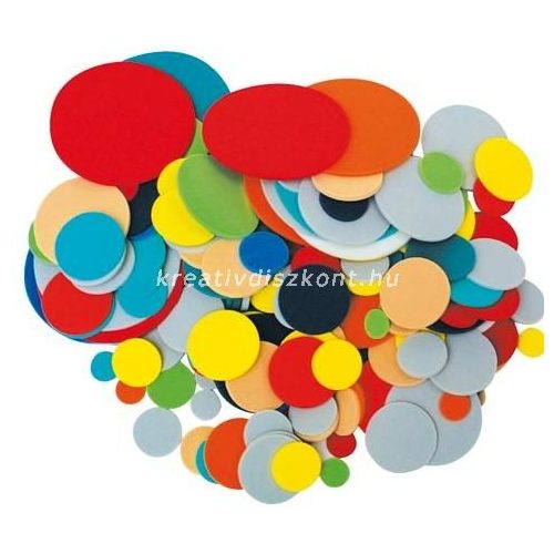 Dekorgumi színes korongok  200 db