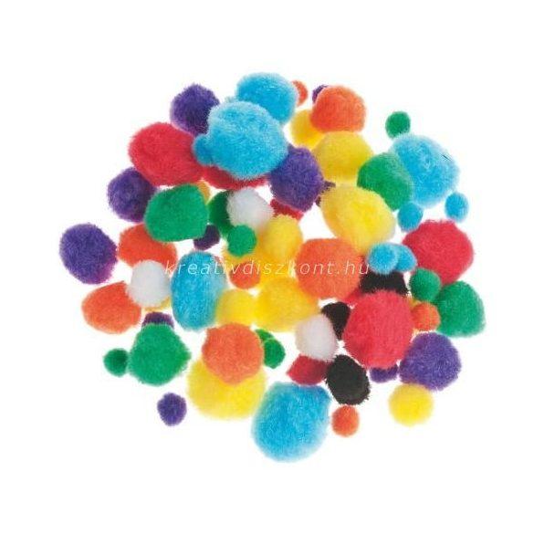 Pompon színes 78 db