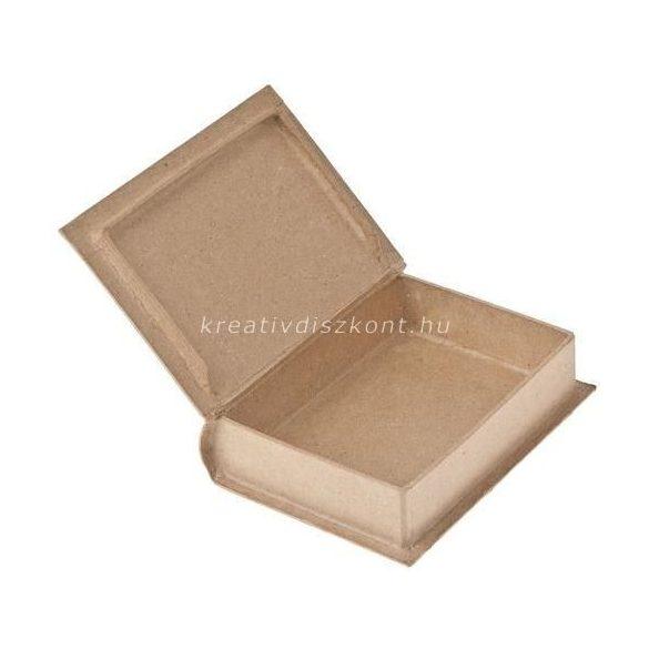 Préselt papírdoboz, könyv