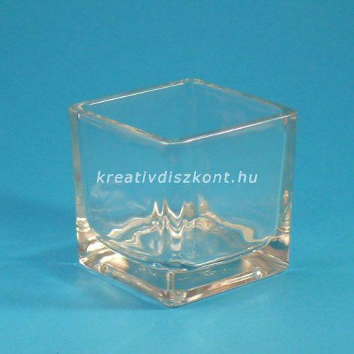 Kockamécses üveg 6x6 cm