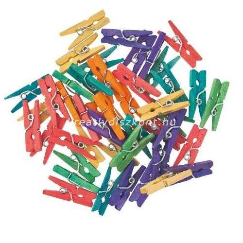 Facsipesz, színes   2,5 cm-es / 45 db