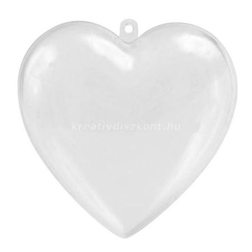 Akril szív 60 mm