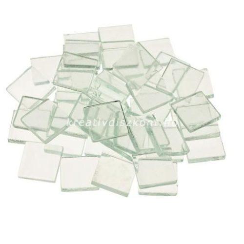 Mozaiklapok, puha üveg négyzet / 200 g, 2x2 cm
