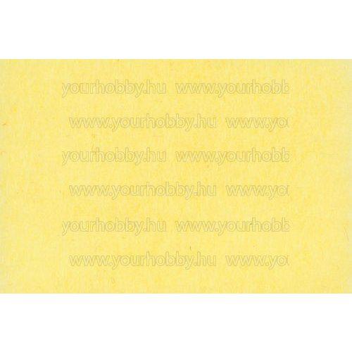 Barkácsfilc puha 20x30 cm x 1,5 mm citromsárga