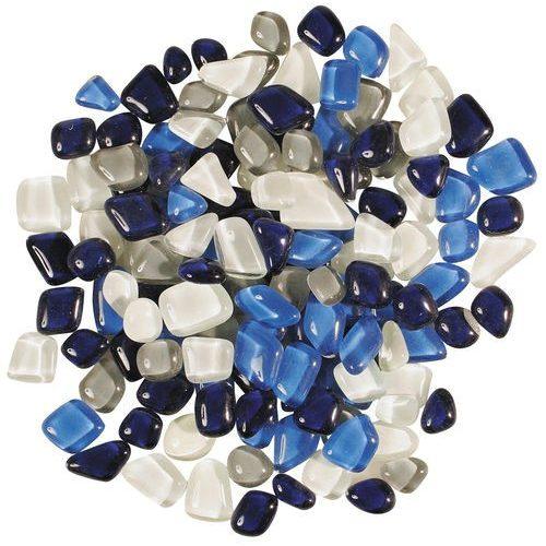 Üvegmozaik puha üveglapok 200 g kék-fehér mix