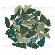 Cserép mozaik zöld mix 500g