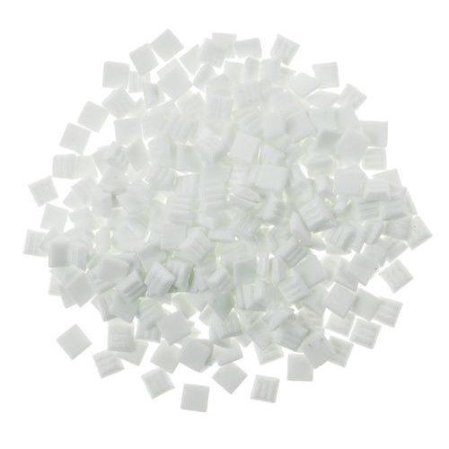 Üvegmozaik lapok 200 g 10x10 mm 300 db fehér